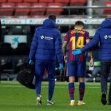 Coutinho tuvo que abandonar el encuentro entre Barcelona y Éibar.