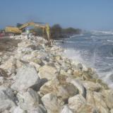 Por erosión intervienen Km 19 en la vía Ciénaga-Barranquilla