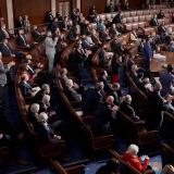 Senadores del Partido Republicano durante una sesión del Congreso.