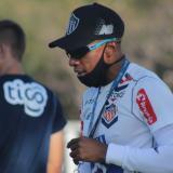 Luis Amaranto Perea durante un entrenamiento de esta semana con Junior.