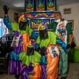 """Los Monocucos de Las Nieves no se quitan su disfraz """"anticovid"""""""