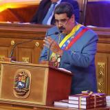 Nicolás Maduro, ofrece un discurso ante el Parlamento en Caracas (Venezuela).