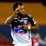 Miguel Borja, delantero de Junior, celebró su primer gol del año ante el Medellín, en la Copa Colombia.