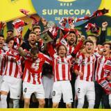 La celebración de los jugadores del Athletic de Bilbao.