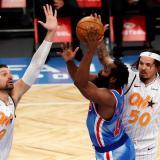 Harden y Durant fueron la gran atracción en la jornada sabatina de la NBA.
