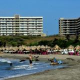 La extensión de playas donde se ejecutará el proyecto de 770 metros lineales, en Sabanilla.