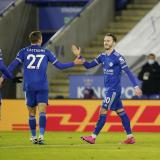 El Leicester City se colocó de primero en la tabla de la Premier League.