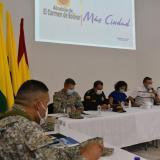 Aspectos del consejo de seguridad que se llevó a cabo en El Carmen de Bolívar con motivo de las amenazas.