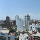 La panorámica muestra edificios en un barrio en la zona norte de Barranquilla.