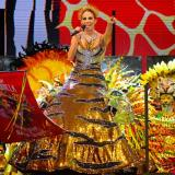 Isabella Chams Vega, reina del Carnaval 2020, es una de las soberanas que participa esta noche.