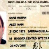 Vista del documento de identidad del empresario Alex Saab.