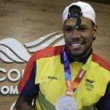 Anthony Zambrano, atleta del registro de Atlántico, es una de las esperanzas de medalla de Colombia.