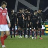 Los jugadores del City celebran la remontada ante el Cheltenham.