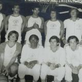 De pie: Heli Pereira, Rafael Amador, Carlos Bengal, Juaco Arias, Ramón Jesurun, Antonio Barake (DT. Abajo: José Deyongh, Dorian Martínez, Helder Charris, Mello Martínez, Richard Barake.