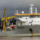 Bartolomeu Dias, la draga que llega al Puerto de Barranquilla
