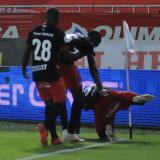 La celebración polémica de Santiago Moreno en el partido entre Junior y América..