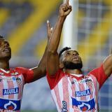 Dany Rosero y Miguel Borja, dos de los jugadores de Junior convocados por Reinaldo Rueda.