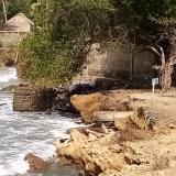 Alerta en San Bernardo del Viento por avance de la erosión marina