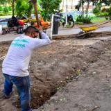 ADI interviene zona verde del parque Rosado