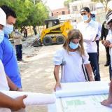 Gobernadora supera la covid y visita obras en cuatro municipios