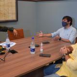 El alcalde Pumarejo en la reunión con el general.