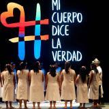 """En el evento """"mi cuerpo dice la verdad de la Comisión de la Verdad"""", mujeres hablaron de la violencia a la que fueron sometidas."""