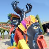 Conozca las primeras cuatro macrofiguras que visten de Carnaval al Malecón