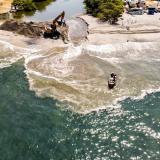Recuperan desembocadura del río Manzanares en Santa Marta
