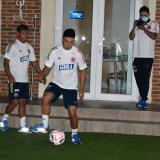 Fabián Ángel en una sesión de entrenamiento con la Selección Colombia.
