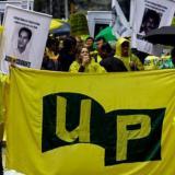 Una manifestación en favor de Unión Patriótica.
