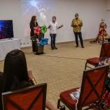 Al evento asistieron pocas personas por bioseguridad.