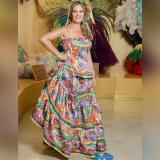 Chechi Donado posa en una de las salas del Museo del Carnaval, ubicado en Barrio Abajo.