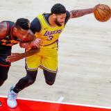 Los Angeles Lakers obtienen su sexta victoria consecutiva.