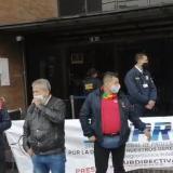 Protesta de escoltas de la UNP por mejora de condiciones laborales