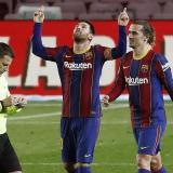 Doblete de Messi, doblete de Trincao, goleada del Barcelona