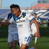 Luis Fernando Muriel celebró su anotación en el último minuto ante el Cagliari.