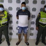 Theybis Andrés Yannez Cárdenas, capturado.