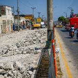 Tramo de la calle 30 con carrera 27 que está siendo intervenido dentro del proyecto de ampliación.