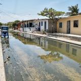 Así se encuentran las aguas residuales en La Playa.