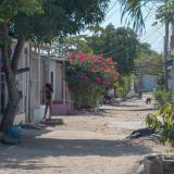 Sector en donde fue asesinada a balas Raquel María Herrera Vergara, de 55 años.
