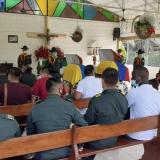 Funeral de los dos policías asesinados en Riosucio.