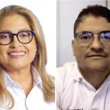 Alma Solano, secretaria de Salud del Atlántico y Humberto Mendoza, secretario de Salud de Barranquilla.