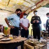 De izq. a der: Jaime Pumarejo, alcalde de Barranquilla; Nelson Patrón, jefe de la Oficina para la Seguridad y Convivencia; general Diego Rosero, comandante de la Mebar, y Jennifer Villarreal, secretaria de Gobierno.