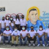 Amigos y familiares en el homenaje a Yecid Bolaño.