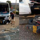 Accidente de tránsito deja dos personas heridas