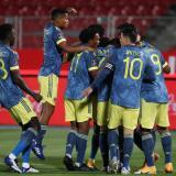 La Selección Colombia celebra uno de los tantos marcados en la actual eliminatoria.