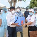 Por vía aérea llegaron las primeras vacunas a la Alta Guajira