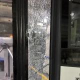 Estos buses reciben constantes ataques en Soledad.