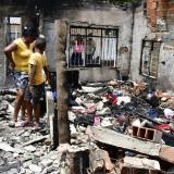 Incendio acabó con una vivienda en el barrio Cabrera, de Soledad