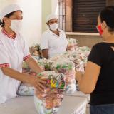 117 mil estudiantes reciben su complemento alimenticio